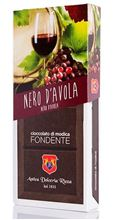Picture of dolceria rizza modica chocolate nero d'avola wine gr 100