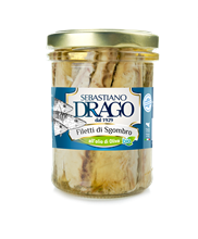 Picture of drago mackerel fillets in organic olive oil gr 200