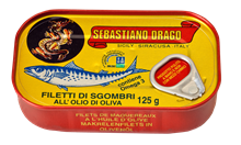 Picture of drago mackerel fillets in olive oil gr 125