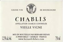 Picture of defaix chablis vieille vigne cl 75