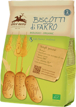 Picture of alce nero biscotti al farro baby food bio gr 250