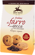 Picture of ALCE NERO Organic spelt biscuits with chocolate chips 300 g