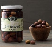 Picture of frantoio bianco taggiasche olives in brine gr 190