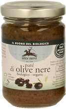 Picture of ALCE NERO Organic black olive pâté 130 gr